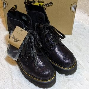 New Dr Martens Molly Quad Retro Iridescent Crackle